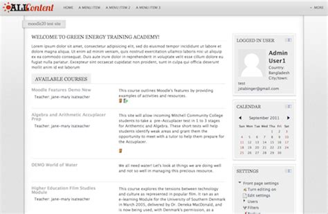 moodle theme location moodle plugins directory allcontent
