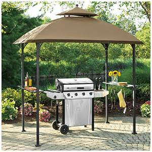 Patio Grill Covers View Wilson Amp Fisher 174 Windsor Grill Gazebo With Shelves