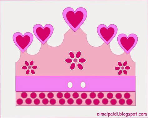 printable heart crown pink princess crown template
