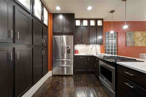 dark hardwood floors with dark cabinets home furniture