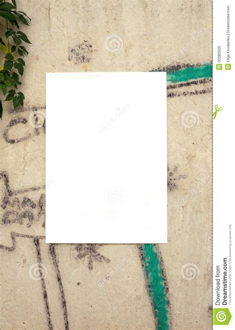 wall post template poster on the wall template royalty free stock photo