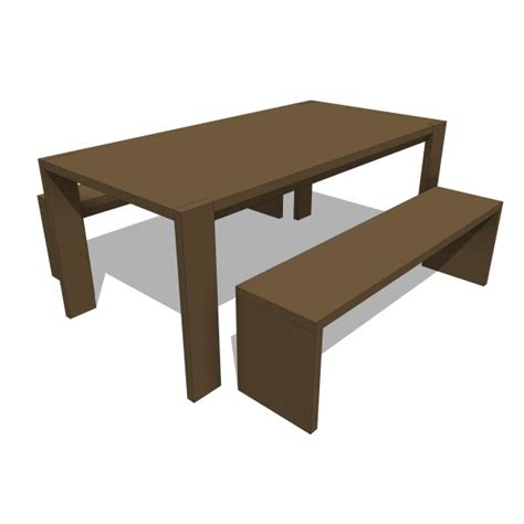 plank table bench dining table gus modern gus modern plank table bench 10236 2 00 revit families modern revit furniture models