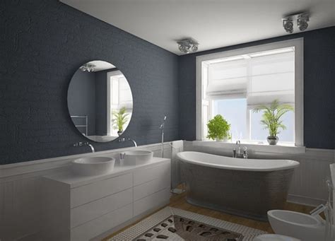 modern bathroom decorations modern bathroom decoration with gray wall and white