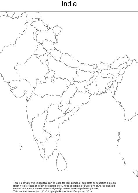 india map political outline images frompo