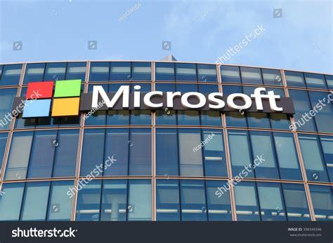 stock photo company paris france march 28 2016 microsoft stock photo 398349346