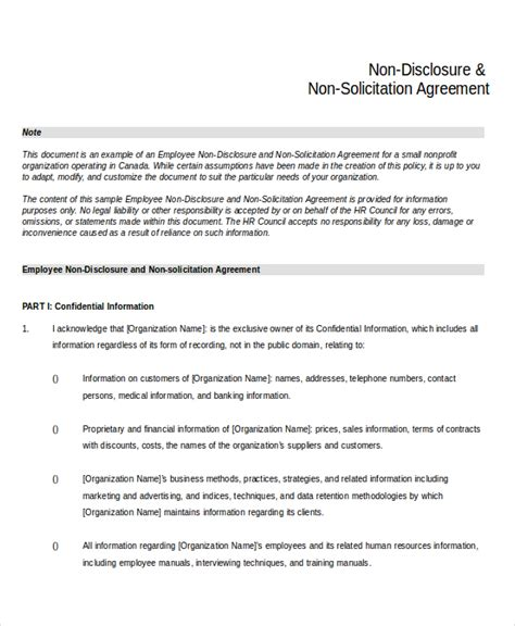 basic non disclosure agreement template simple non disclosure agreement form 13 free word pdf