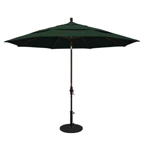 11 Patio Umbrella California Umbrella 11 Ft Aluminum Collar Tilt Vented Patio Umbrella In Pacifica
