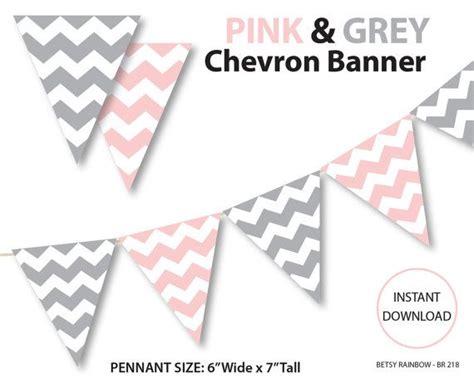 printable chevron banner printable banner chevron banner pink and grey chevron