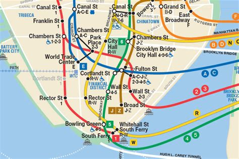 map of subway nyc image gallery lower manhattan subway map