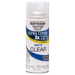 rustoleum clear coat spray paint rust oleum painter s touch 2x 12 oz flat matte clear