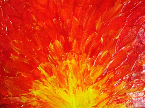 Wholesale Home Decor Canada by Sale Original Abstract Painting 5 X 7 Acrylic Fury Fiery