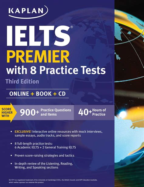 ielts test ielts premier with 8 practice tests book by kaplan test