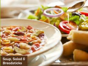 unlimited soup salad and breadsticks at olive garden