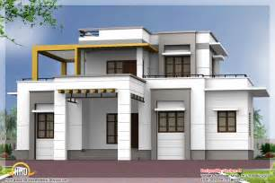 3 bedroom contemporary flat roof house kerala house