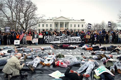 white house protest hundreds arrested at white house in pipeline protest