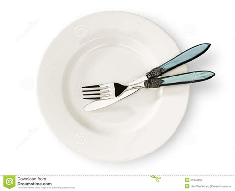 and cutlery plate and cutlery stock photos image 21345253