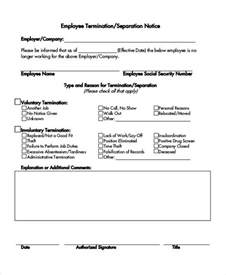separation notice template separation notice template 13 free word pdf document