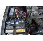 Truck Camping  Dual Battery Setup In A Toyota 22RE Desk To Dirtbag