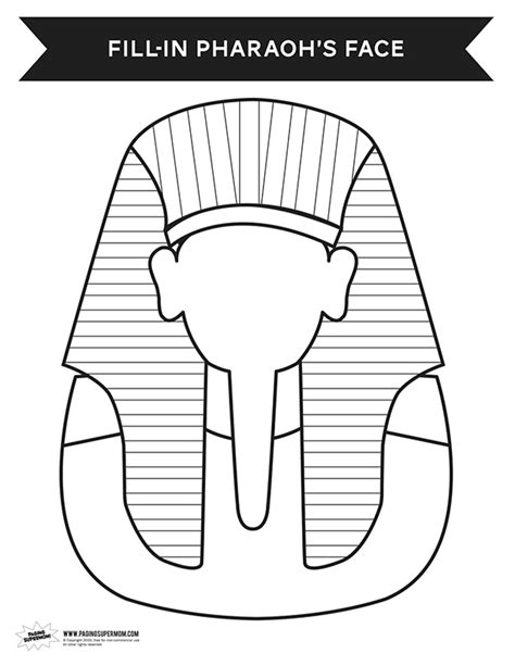 King Tut Mask Template by King Pharaoh Coloring Pages Coloring Pages