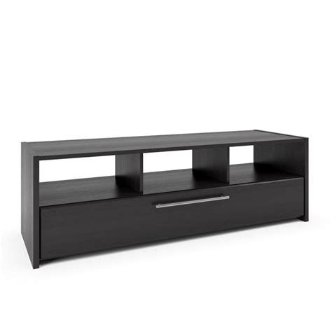 tv bench black tv component bench in wood grain black tnp 608 b