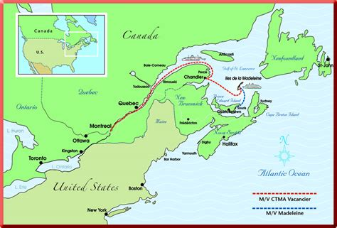 canada map st river iles de la madeleine maps travel with a challenge