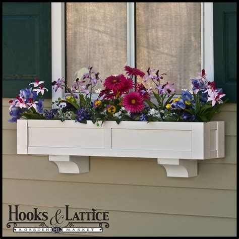window flower box solera flower box window flower box hooksandlattice
