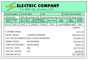 Calculate Electricity Bill by Fundamentals Of Electricity Electric Bill Components