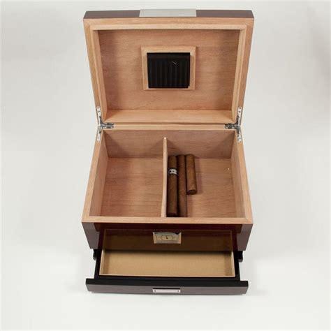 7 Drawer Humidor by Bey Berk Walnut Wood Cigar Humidor W Drawer