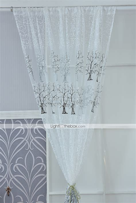 cotton sheer curtains one panel curtain modern living room poly cotton blend