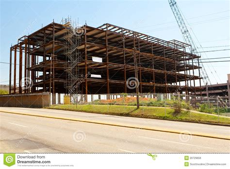 house construction stock photo image of framing steel frame building construction site in a city royalty
