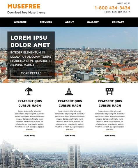 web layout muse 33 best images about adobe muse free themes on pinterest