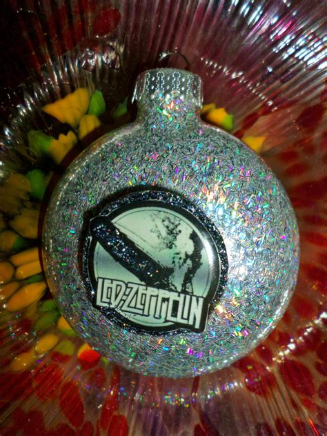 christmas decorations led tree from love actully led zeppelin glass holographic glitter resin