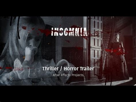 Insomnia Thriller Horror Trailer After Effects Template Youtube Horror Trailer Template Free