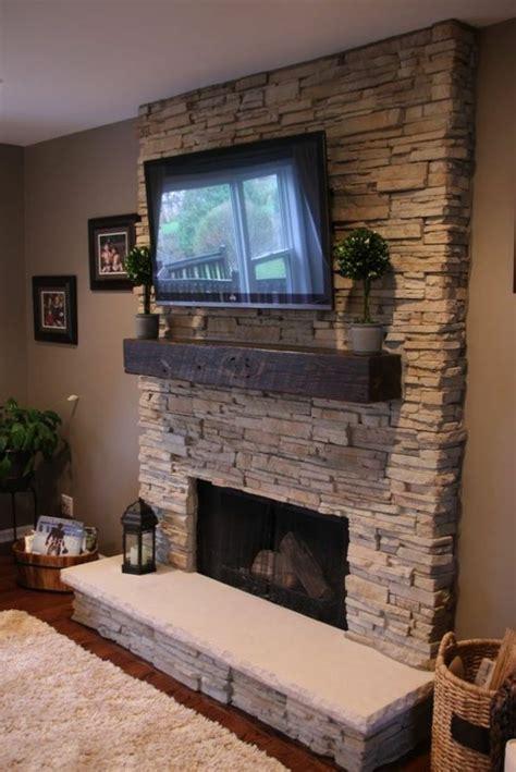 Fireplace Mantel Height With Tv Above by Quelles Pierres De Parement Choisir Pour Votre Pi 232 Ce