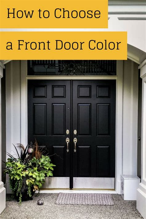 Picking A Front Door Color | ever wondered how to pick a front door color this is a