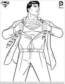 superman coloring picture
