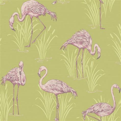flamingo wallpaper retro arthouse vintage lagoon traditional flamingo textured