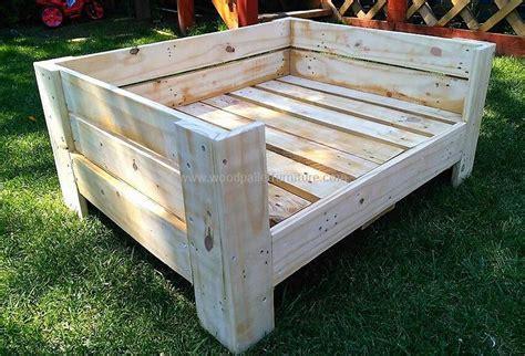 pallet dog bed plans diy wooden pallets dog bed plan wood pallet furniture