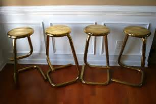 Vintage brass stools counter bar stools by rhapsodyattic