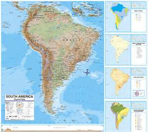 free printable maps south america physical map printfree