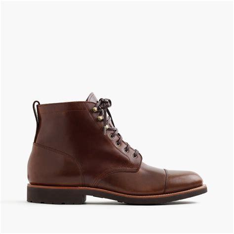 kenton leather cap toe boots s boots j crew