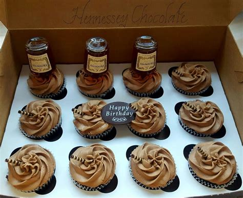 hennessy chocolate bottle cupcakes