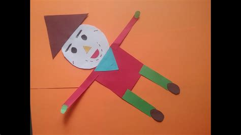 how to make scarecrow with basic shapes project work