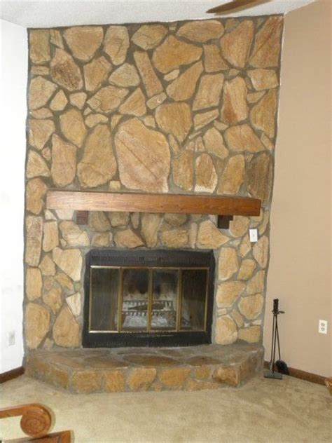 update your fireplace update 1970 s fireplace stones for the home