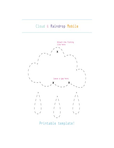 cloud and raindrop mobile template free download