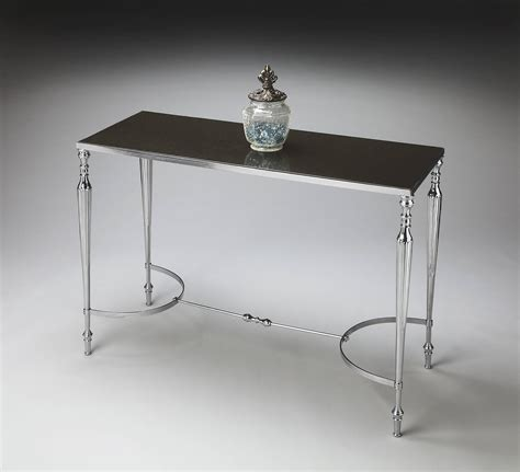 household essentials faux slate sofa table modern expressions transitional faux stone console sofa