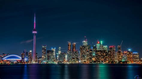 cool wallpaper toronto download wallpaper night toronto view from lake ontario