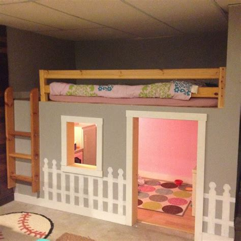 2 year old bedroom ideas girl the finished product of the clubhouse bed in the man cave