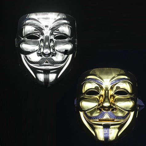 V In The Silver Mask high quality fawkes mask promotion shop for