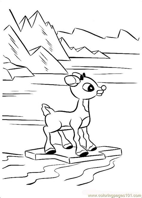 free coloring page of rudolph the red nosed reindeer rudolph 40 coloring page free rudolph the red nosed